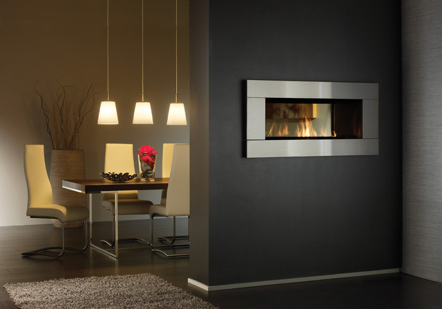 see through gas fireplace living room by regency fireplace