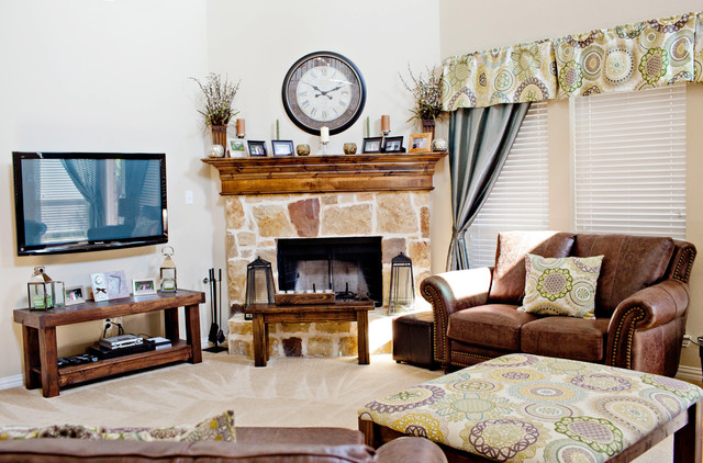 Living Room Traditional Living Room Dallas By Rustic Oar Furniture Co