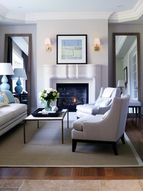 mirror for living room.  Beautiful Ideas in Decorating a Living Room with Floor Mirrors
