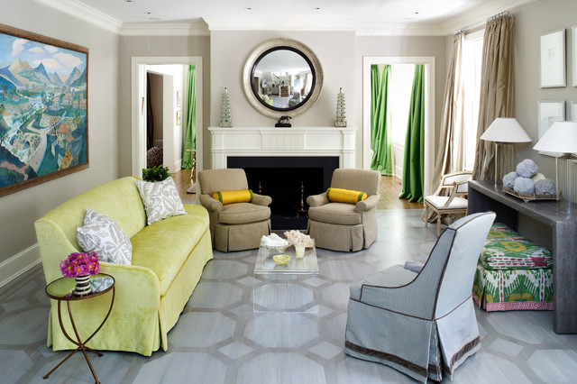 Living Room Contemporary DC Metro By