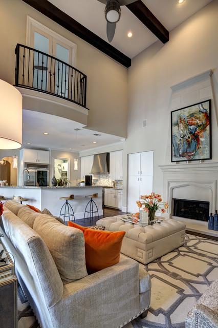 Living Room Balcony Design: Mediterranean