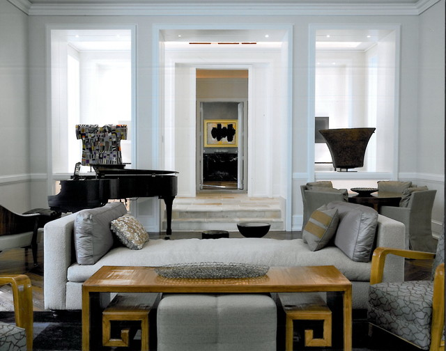 Living Room Contemporary Living Room Chicago By