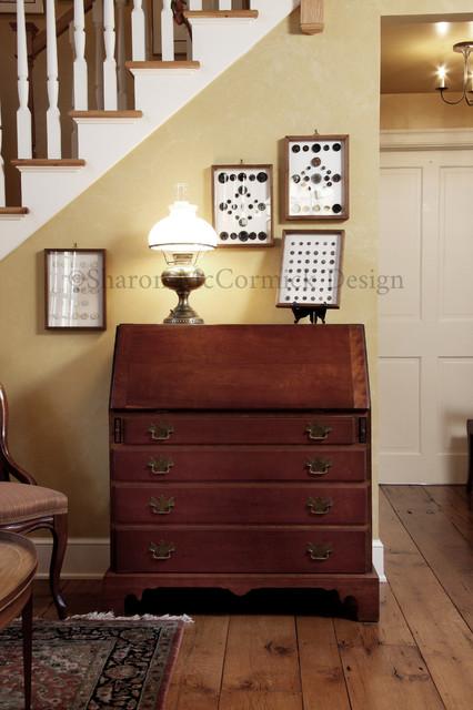 Lofty Transition traditional-living-room