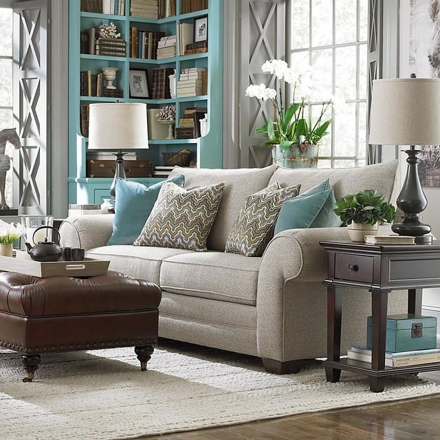 Living Room Sofas Transitional Living Room New York