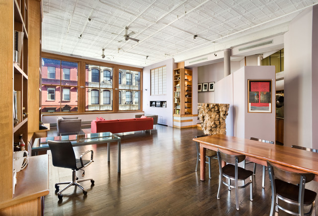 Living Room Soho Loft New York City
