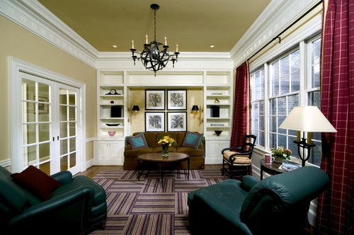 Traditional Living Room by Washington Interior Designers & Decorators Sroka Design, Inc.