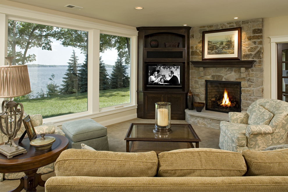 Living Room Traditional Living Room Minneapolis By Stonewood Llc Houzz