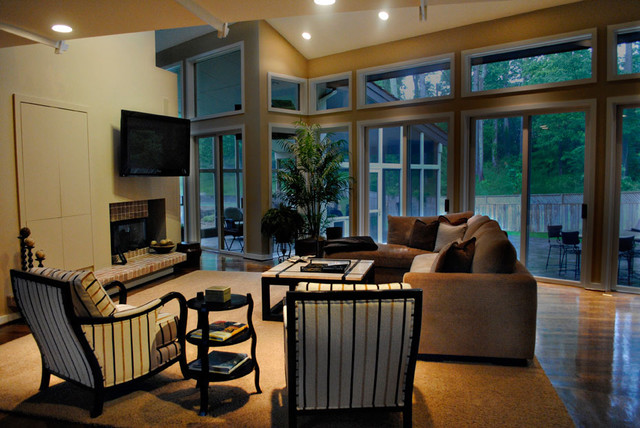 living room tan cream brown and black