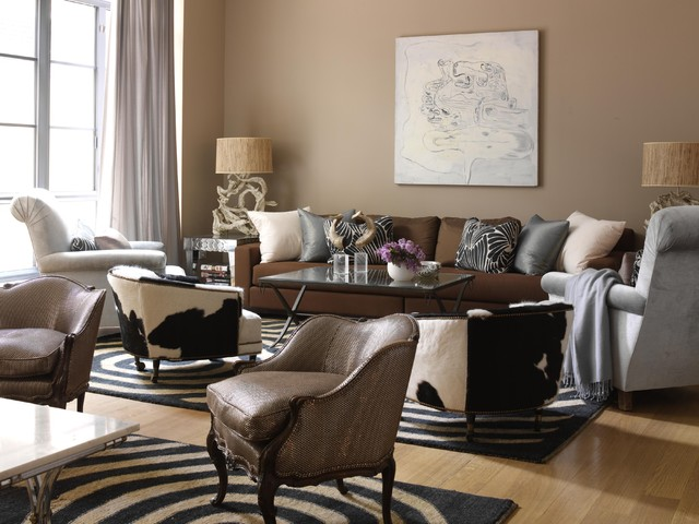 Brown Couch Gray Walls | Houzz