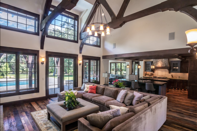 Country Home - Rustic - Living Room - Salt Lake City - by THINK ...