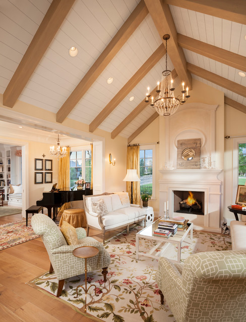 Country home 02 traditional living room salt lake city by think architecture inc for Houzz traditional living rooms