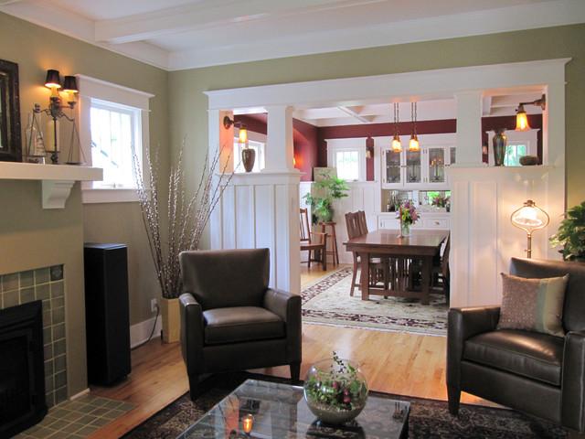 Living Room Craftsman Living Room Seattle By Tim