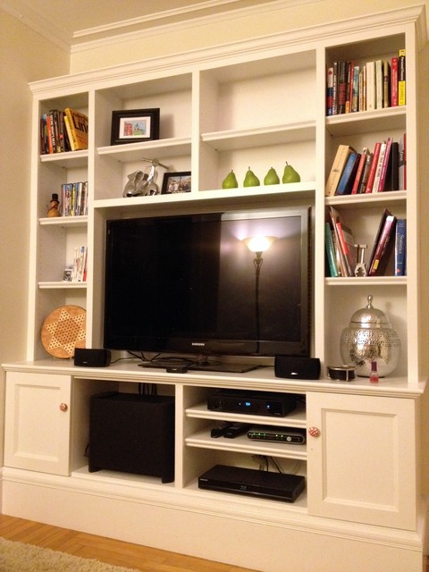 Traditional Living Room Tv living room tv wall unit - traditional - living room - boston -