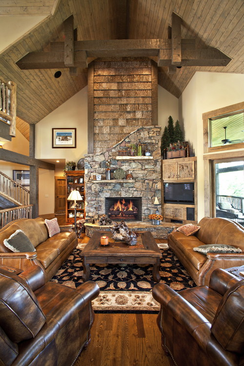 Traditional Living Room by Burnsville General Contractors Tyner Construction Co Inc