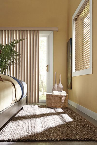 Living room vertical blinds traditional living room for Living room vertical blinds