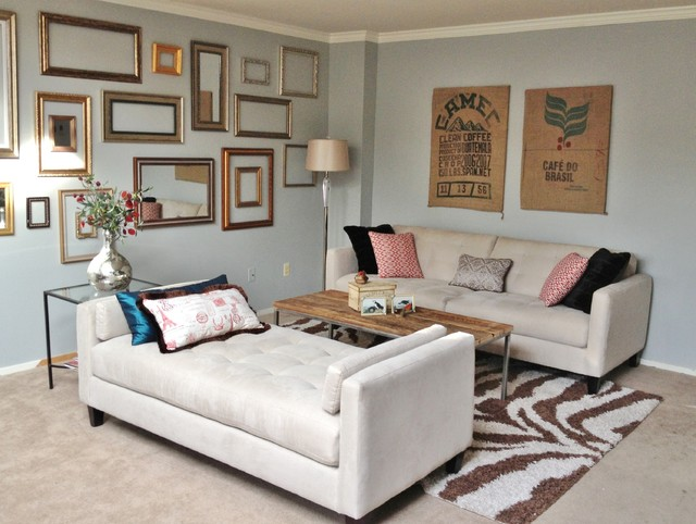 Living room w chaise - Contemporary - Living Room - Denver - by Fini ...