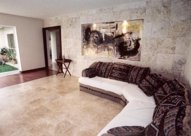 Living Room Wall and TiIe Flooring - Contemporary - Living Room ...