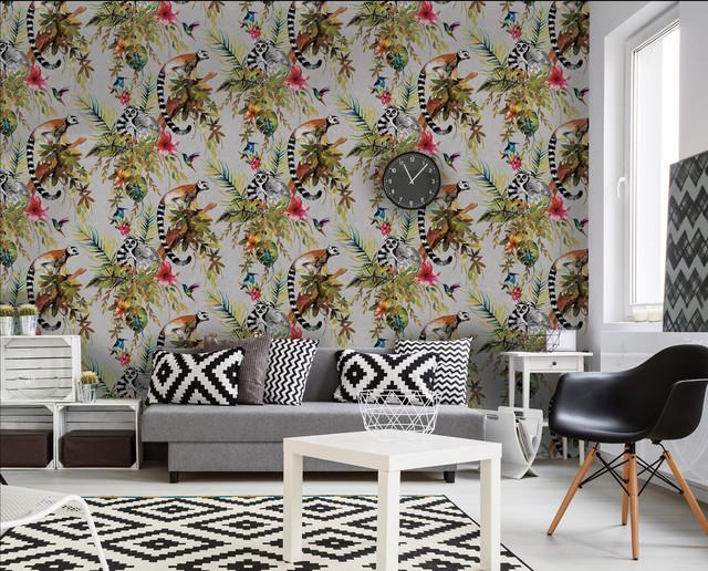 Living Room Wallpaper Ideas Contemporáneo Salón Sussex