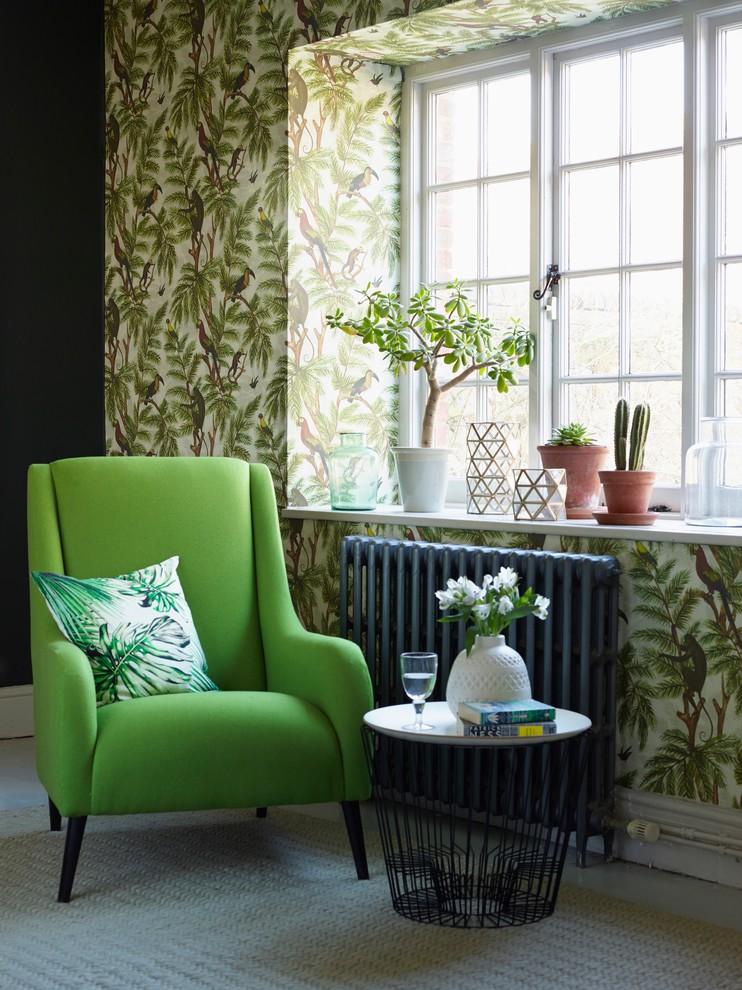 living room wallpaper ideas  tropical  living room