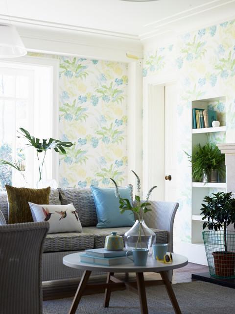 Living Room Wallpaper Ideas Exótico Salón Sussex De
