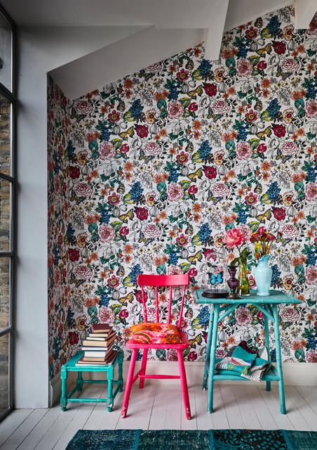 Living Room Wallpaper Ideas Contemporary Living Room Sussex