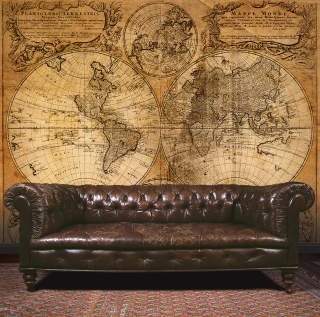 Galerie Steampunk Ancient Map Living Room