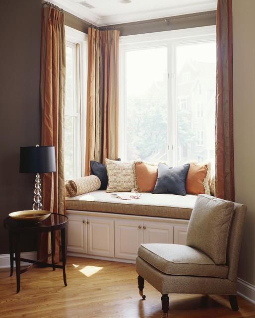 LIving Room Window Seat Contemporary Living