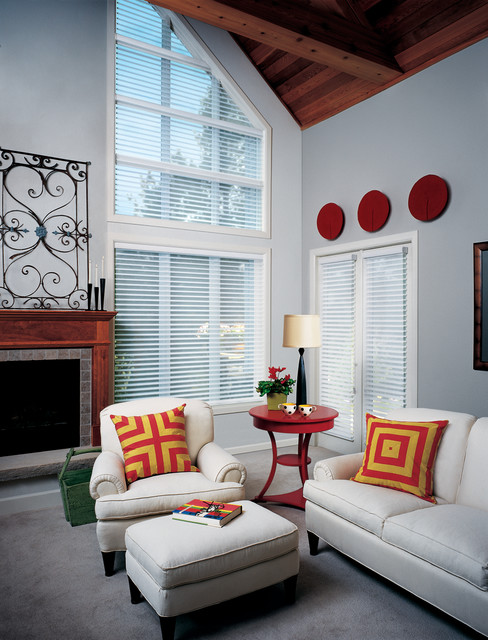 Living Room Window Treatments Contemporary Living Room Las Vegas By H