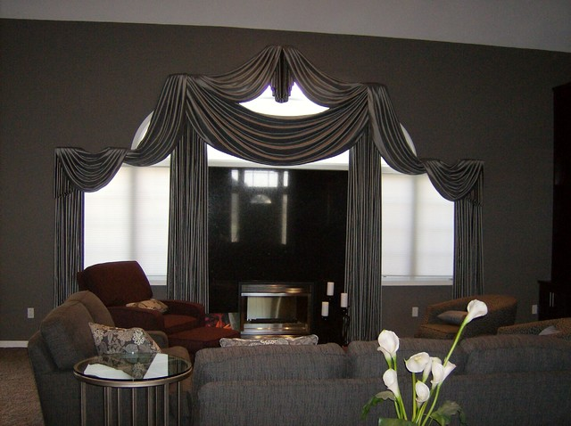 Living room window treatments for Modern living room window treatments