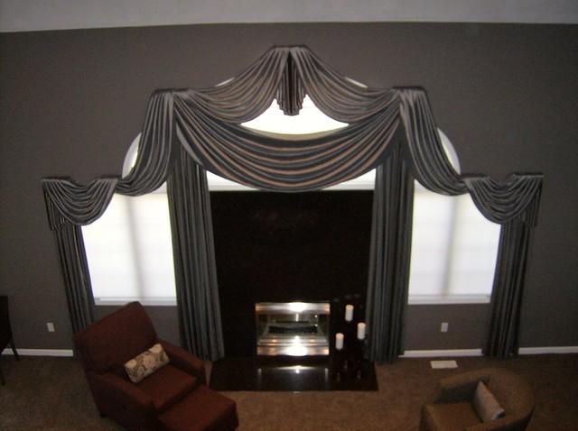 Living Room Window Treatments modern-living-room