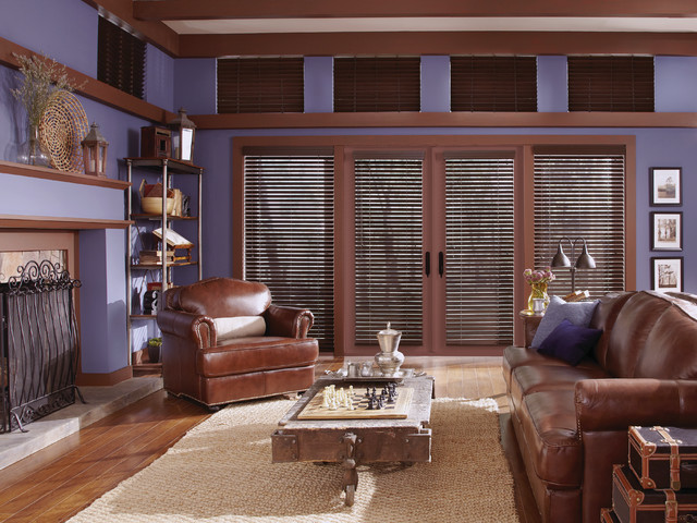 Living room window treatments modern living room for Modern living room window treatments