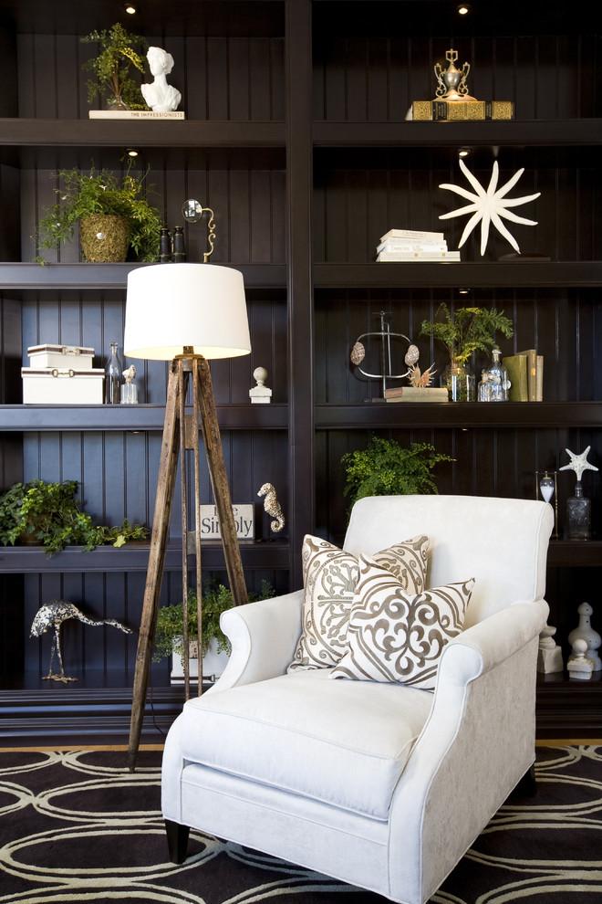 Elegant living room photo in San Diego