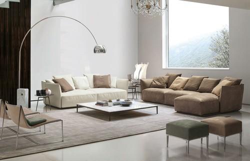 Living Room with huge window, Alivar Furniture and Flos Lighting