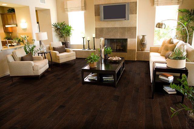Empire Hardwood Floors birch character grade 15mm wear layer engineered flooring Living Room With Lakeside Manor Birch Hardwood Rustic Living Room