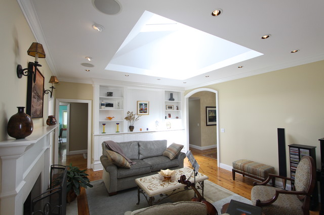 Living room with large skylight for Large skylights
