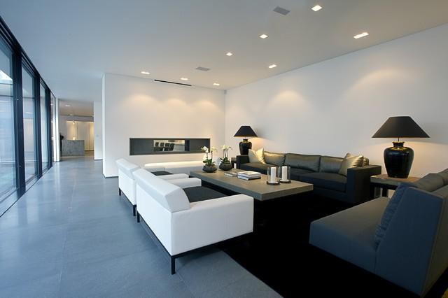 Living Room With Lutron Homeworks Lighting Control Modern