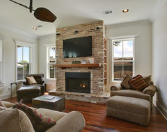 """Living Room with """"Media-hub""""/ Faux-Fireplace traditional-living-room"""