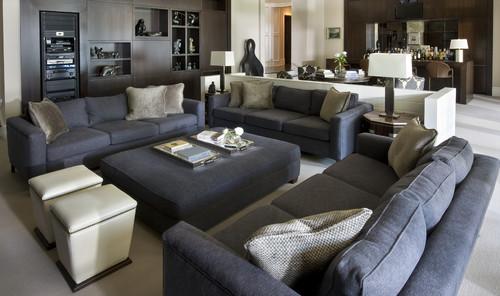 Beautiful Ottoman Living Room Contemporary - Decorating Ideas ...