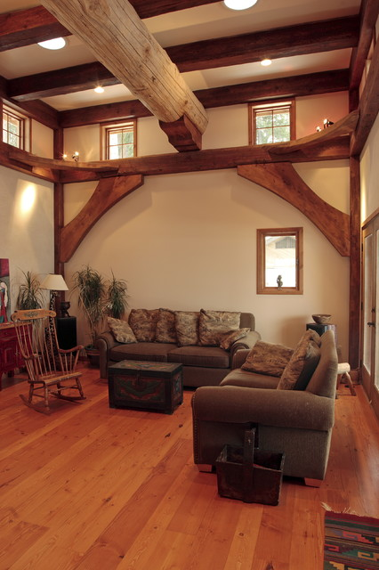 Living rooms in some of our log homes traditional-living-room