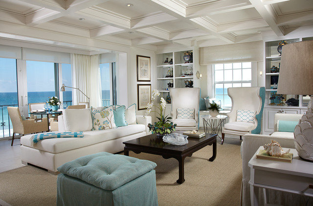 Living rooms beach style living room atlanta by for Beach house look interior design