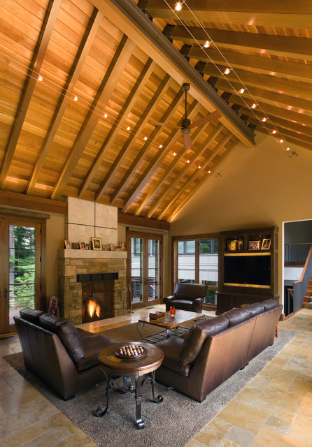 living rooms rustic living room cleveland by scott pease