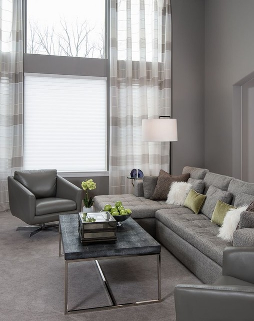 Living rooms contemporary living room detroit by for Monochromatic living room ideas