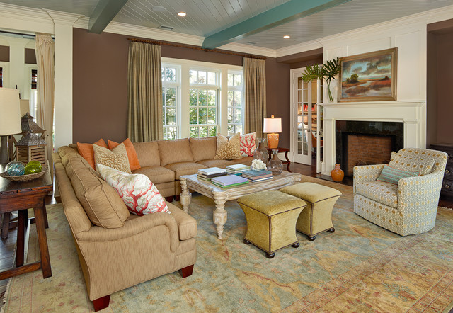 Living southern beach style living room charleston by lorraine g vale allied asid - Beach style living room ...