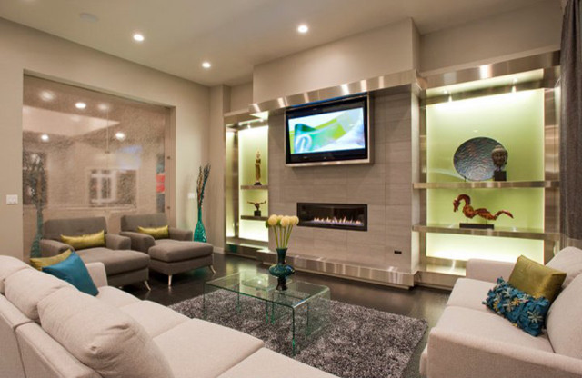 Living Space - showing TV - Contemporary - Living Room - Other - by ...