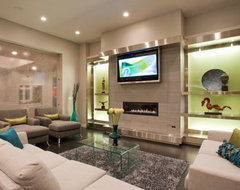 Living Space - showing TV contemporary-living-room