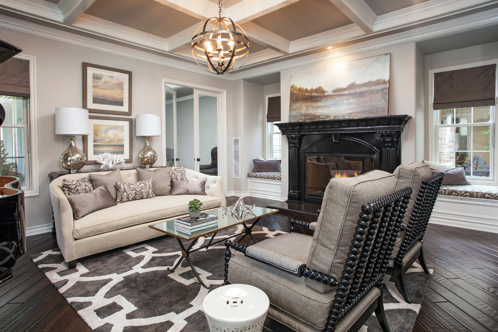 Inspiration for a timeless living room remodel in Orange County