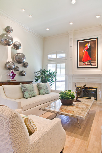 Lovely Living Spaces Transitional Living Room
