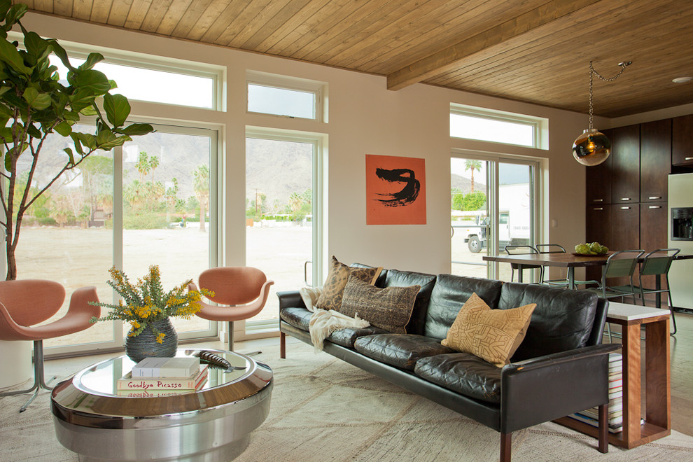 Inspiration for a mid-century modern open concept living room remodel in Los Angeles