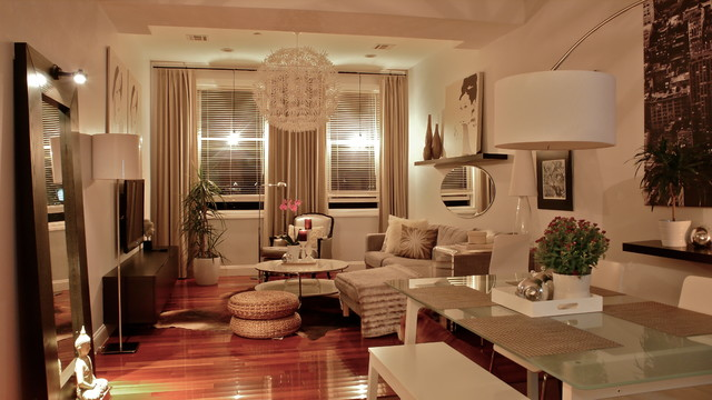 Jersey City condo makeover modern-living-room