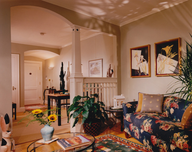 Harvard Street traditional-living-room